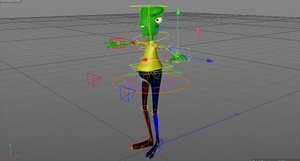 featured image thumbnail for post 3D character rigged animated